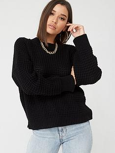 boohoo-boohoo-balloon-sleeve-jumper-black