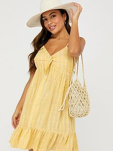 accessorize-tie-front-stripe-short-dress-yellownbsp