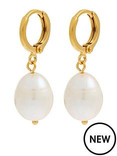 accessorize-z-irregular-pearl-drop-huggie-earrings-nude