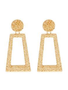 accessorize-oversized-molten-doorknocker-earrings-gold