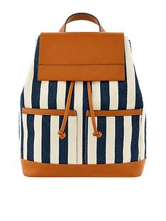 accessorize-woven-stripe-canvas-backpack-navy