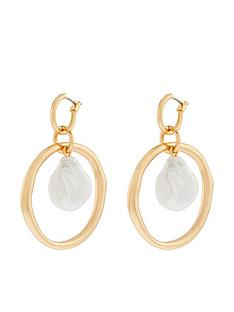 accessorize-pearl-statement-hoop-drop