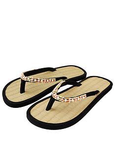 accessorize-multi-beaded-seagrass-sandals-black