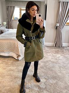 michelle-keegan-premium-pu-belted-parka-coat-khaki