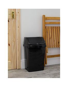 wham-casa-25-litre-swing-bin-black