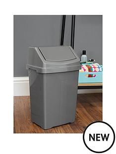 wham-casa-15-litre-swing-bin-silver