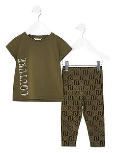 river-island-mini-mini-girls-couture-tshirt-and-legging-set-khaki