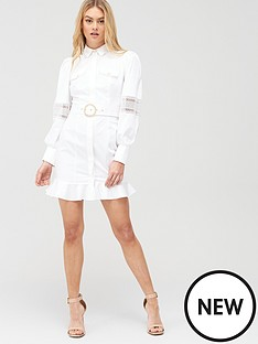 river-island-river-island-cotton-belted-shirt-dress-white