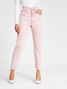river-island-washed-peg-leg-jeans-pink