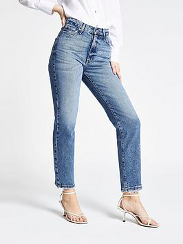river-island-high-rise-straight-leg-jeans-blue-denim