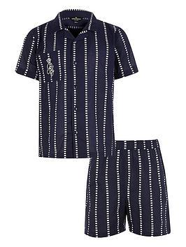 river-island-boys-stripe-ri-pyjama-set--nbspnavy
