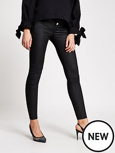 river-island-river-island-maternity-over-bump-coated-molly-jegging-black
