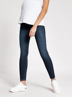 river-island-river-island-maternity-under-bump-molly-jegging-dark-blue