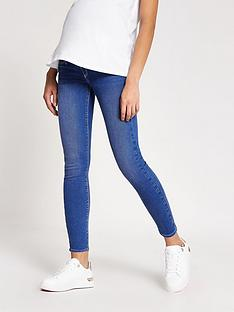 river-island-river-island-maternity-over-bump-molly-jegging-blue