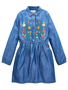 v-by-very-girls-embroidered-chambray-dress-blue