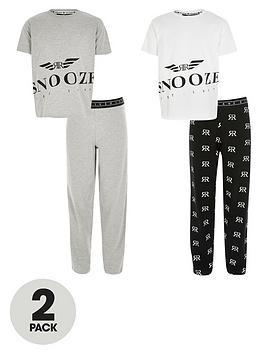 river-island-boys-snooze-2-pack-pyjama-setnbsp-nbspgrey