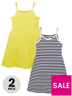 v-by-very-girls-2-pack-daisy-and-stripe-dresses-multi