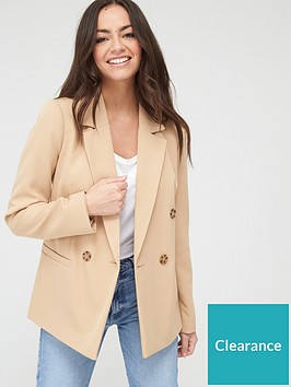 river-island-double-breasted-blazer-beige