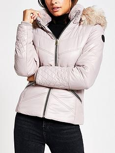 river-island-river-island-faux-fur-fitted-padded-jacket