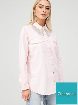 river-island-diamante-fringe-denim-shirt-pink