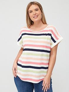 oasis-curve-vera-rainbow-stripe-tee-white