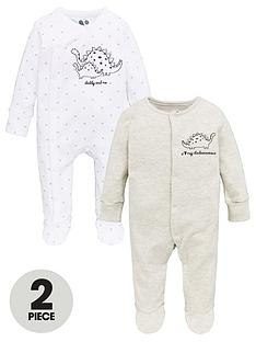 v-by-very-baby-unisex-daddys-dinosaur-pack-of-2-sleepsuits
