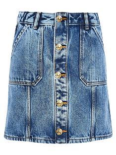 river-island-girls-button-front-denim-a-line-skirt-blue