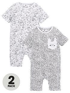 v-by-very-baby-unisex-elephant-rompers-black-white