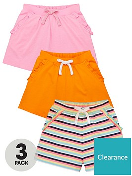 v-by-very-girls-3-pack-ruffle-pocket-shorts-multi