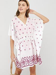 prod1089395437: Eleanor Embroidered Tie Kaftan - Pink