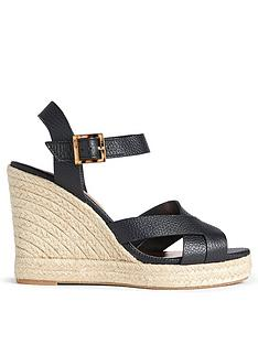 ted-baker-sellana-leather-espadrille-wedge-black