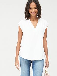 v-by-very-essential-v-neck-sleevelessnbspformal-shell-top-white