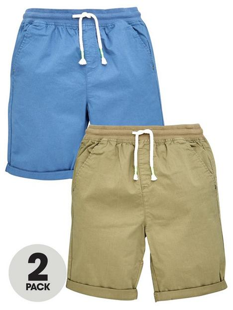 v-by-very-boys-2-pack-short-with-jersey-waistband-blue-beige