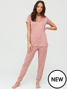 v-by-very-lace-trim-t-shirt-ampnbspjogger-pyjamas-pink