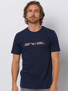 animal-classico-graphic-short-sleeve-t-shirt-indigo-blue