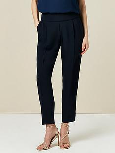 wallis-henna-pull-on-trousers-navy