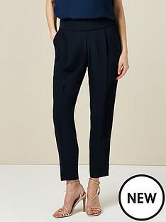 wallis-henna-pull-on-trousers-navy