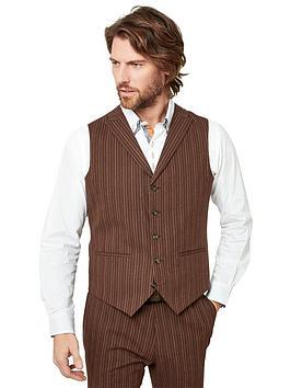 joe-browns-sensational-stripe-waistcoat-chestnut