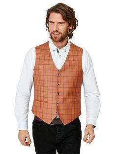 joe-browns-charming-check-waistcoat-red