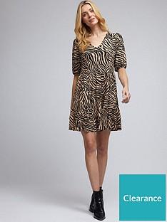 dorothy-perkins-zebra-v-neck-mini-dress-multi