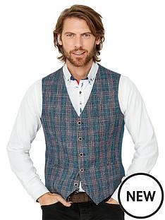 joe-browns-charismatic-check-waistcoat-blue