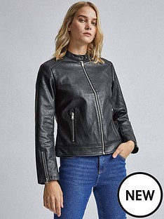 dorothy-perkins-dorothy-perkins-black-collarless-biker-jacket
