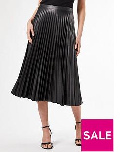 dorothy-perkins-pu-pleat-midi-skirt