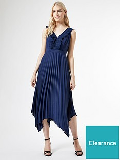 dorothy-perkins-dorothy-perkins-luxe-pleat-trim-midi-dress-navynbsp