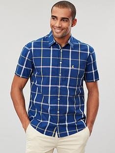 joules-short-sleeve-classic-fit-check-shirt-navyyellow