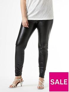 dorothy-perkins-curve-pu-leggings-ndash-black
