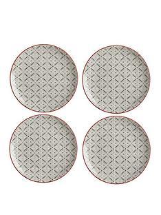maxwell-williams-boho-batik-grey-plate-set-of-4
