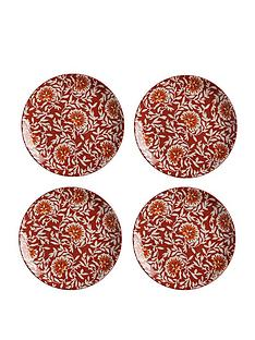 maxwell-williams-boho-damask-red-plates-ndash-set-of-4