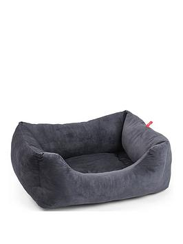 zoon-velour-charcoal-grey-square-bed-extra-large