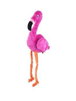 zoon-pink-flamingo-plush-dog-toy